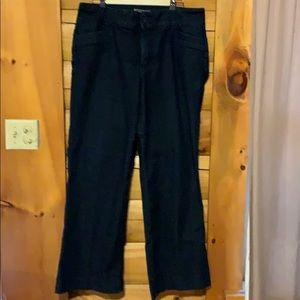 NYDJ Trouser Fit Wide Leg Jeans  Dark wash Size 16